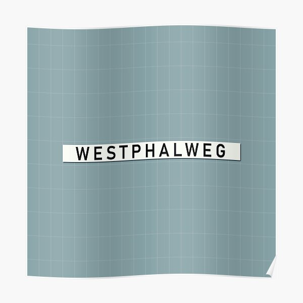 Westphalweg Station Tiles (Berlin) Poster