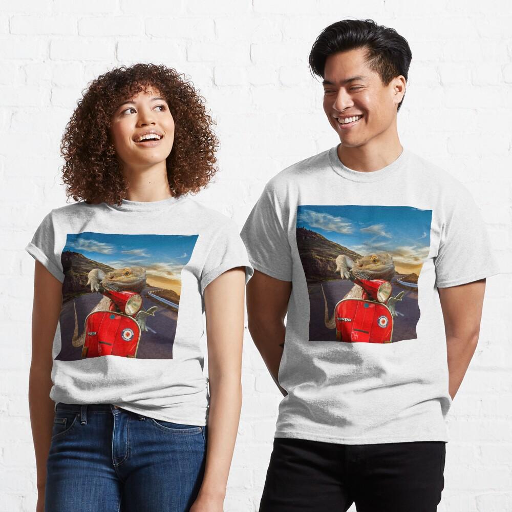 Bearded Dragon Sunset Vespa Roadtrip Classic T-Shirt