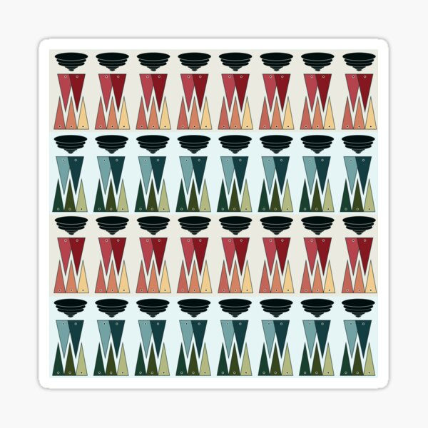 Geometric Cool and Hot Days of Summer Stripes Sticker