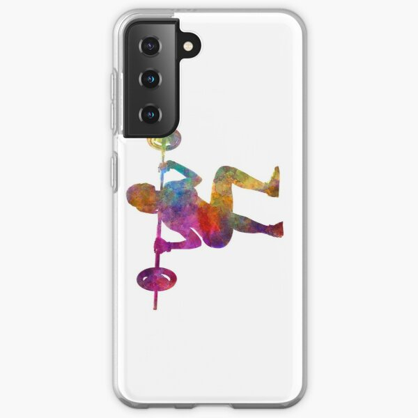 Body building woman isolated Samsung Galaxy Soft Case