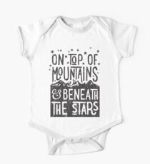 Auf Berge Baby Body Kurzarm