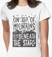 On Top Of Mountains Women's Fitted T-Shirt