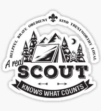 A real scout knows what counts Sticker