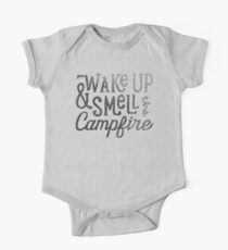 wake up & smell the campfire One Piece - Short Sleeve