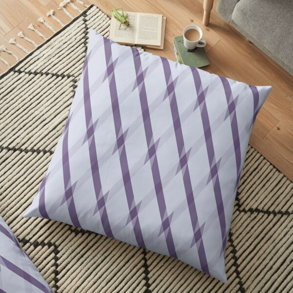 Modern Geometric Silver Grey Purple Plum Pattern Design 1911 Floor Pillow