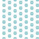 Kleine blaue Eule von JCDesignsUK