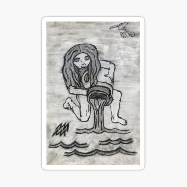 Aquarius the Water Bearer Sticker