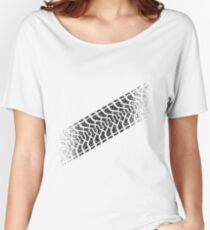 Tire footprint, tire gauge, tire tread (Diagonal) Women's Relaxed Fit T-Shirt