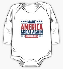 Make America great again Long Sleeve Baby One-Piece