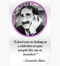 [Quote] Groucho Marx - Club Poster