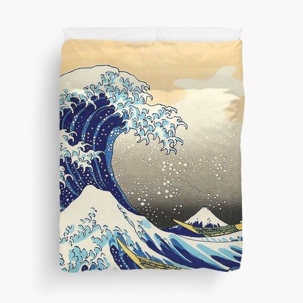 4K The Great Wave Off Kanagawa Duvet Cover