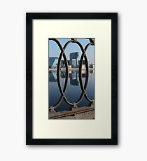 Embankment cast-iron fence Framed Print