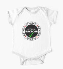 No Cash, Drugs, Booze, Smokes: Because Racecar - T Shirt / Sticker - Black & White v2 Kids Clothes