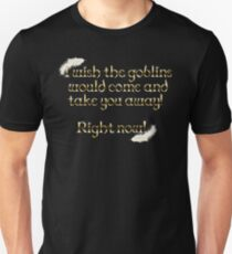 Kobolde nehmen dich weg (schwarz) Slim Fit T-Shirt