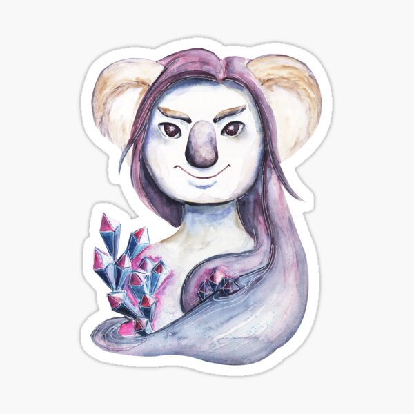 Watercolor koala with the crystals Sticker