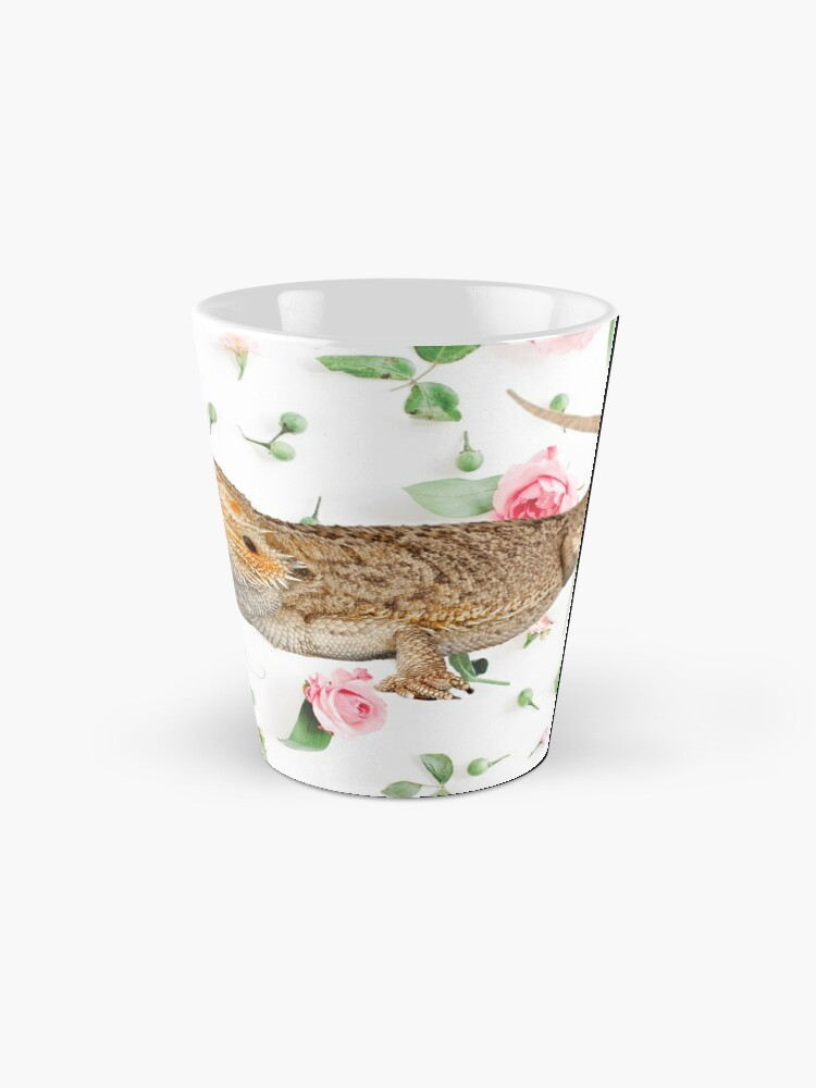 Alternate view of Bearded Dragon On A Carnation Background Mug
