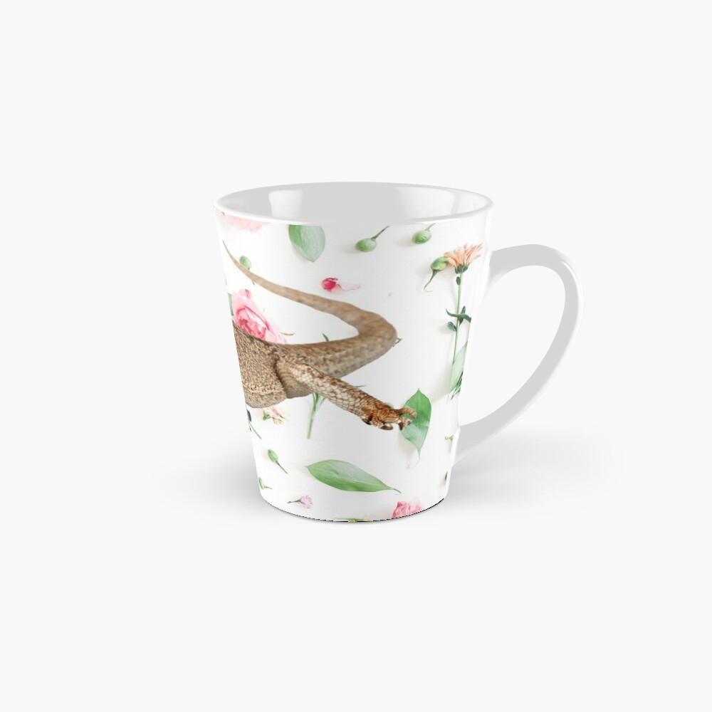 Bearded Dragon On A Carnation Background Mug