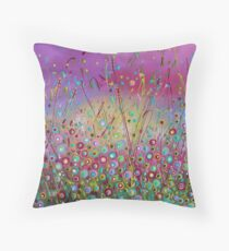Heaven on Earth - Flower Meadow Throw Pillow