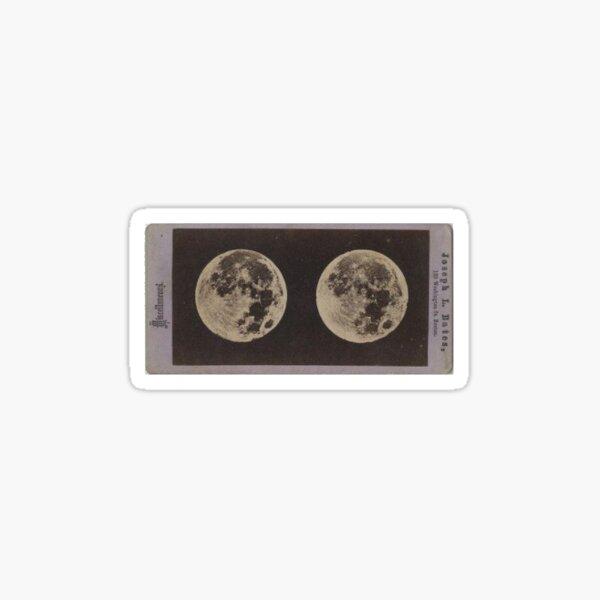 vintage victorian full moon Sticker