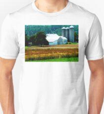 Farm With White Silos T-Shirt