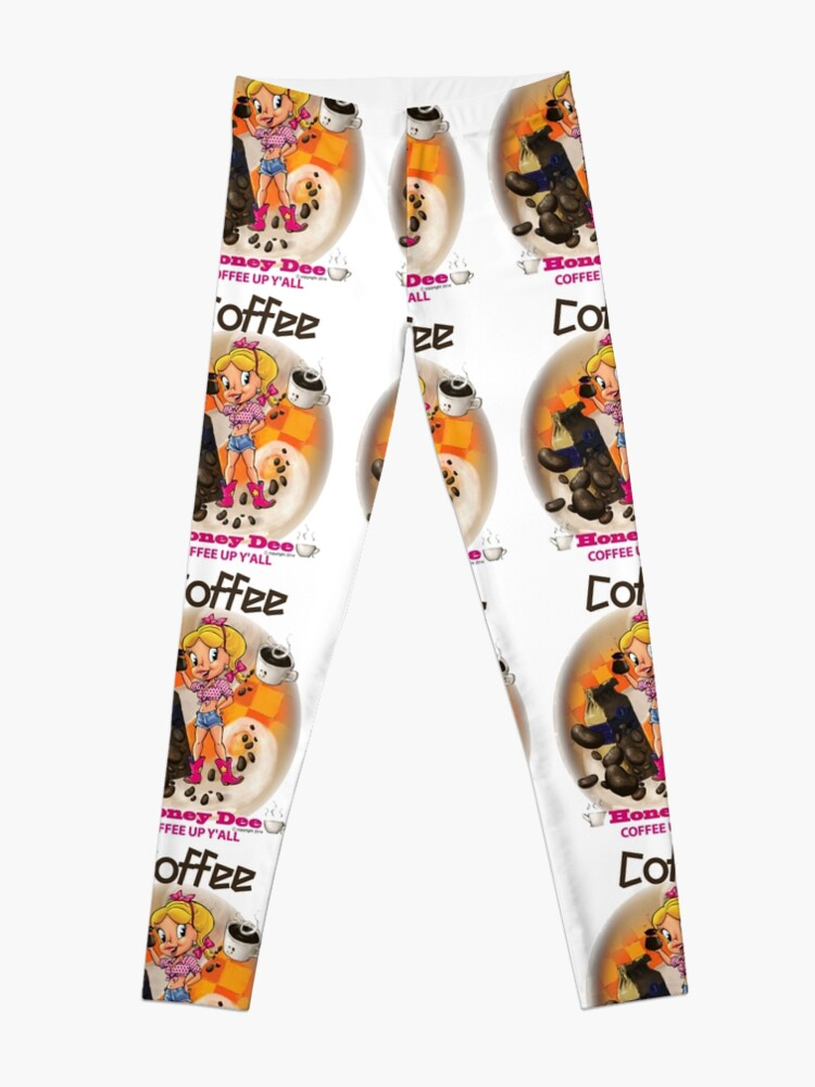 Alternate view of Coffee Up Y'all With Honey Dee Leggings
