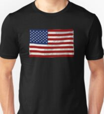 USA flag, block colour design (United States of America) T-Shirt