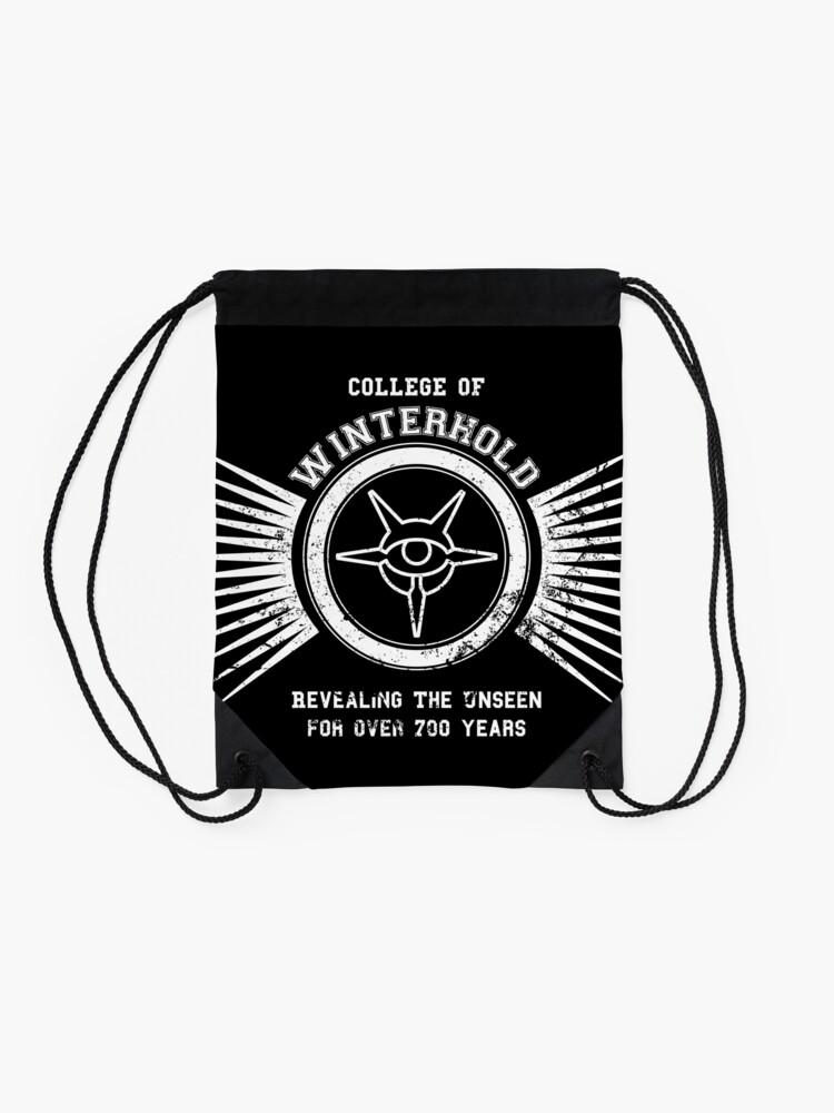 Alternate view of College of winterhold Drawstring Bag
