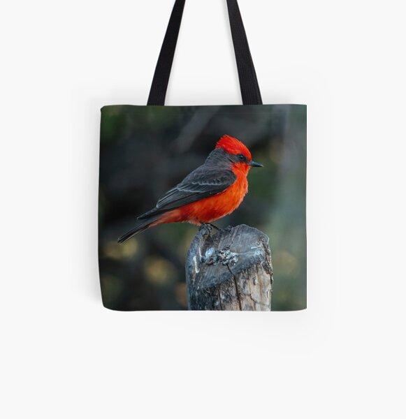 Vermilion Flycatcher All Over Print Tote Bag