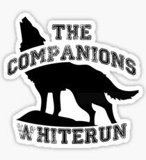 The companions of whiterun - Black Sticker