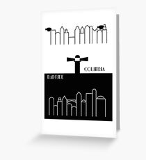 Rapture and Columbia with names Greeting Card