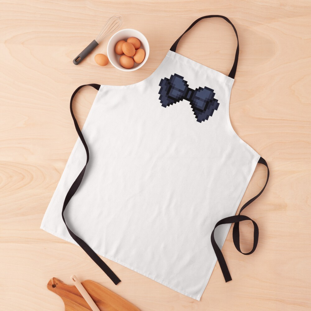 Pixel Bow Ribbon Apron