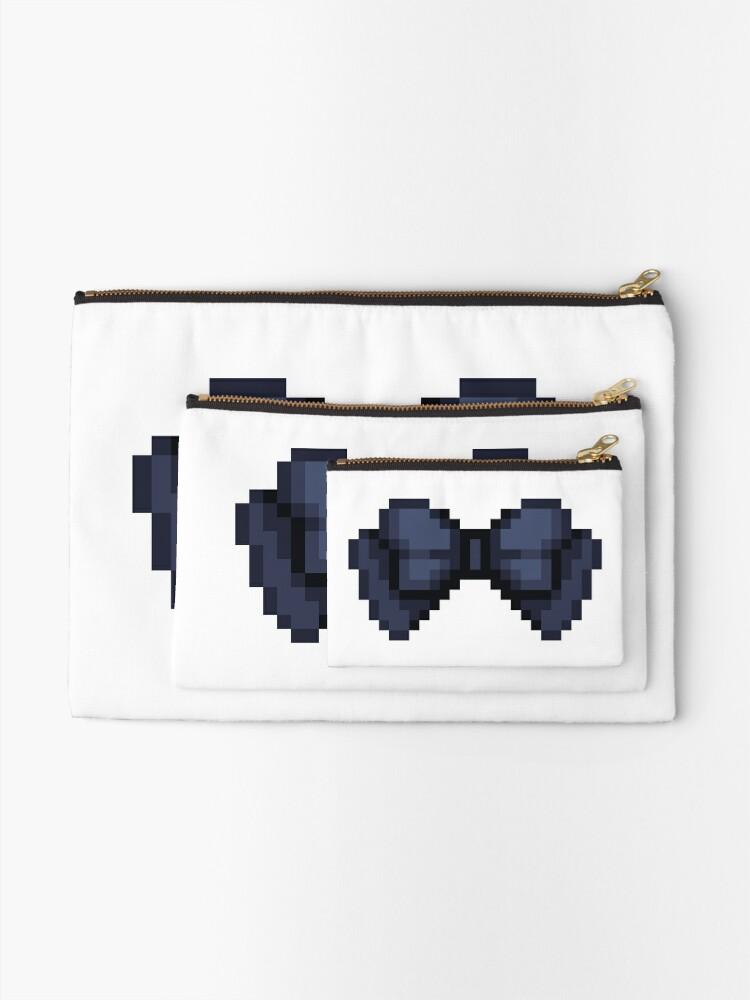 Alternate view of Pixel Bow Ribbon Zipper Pouch