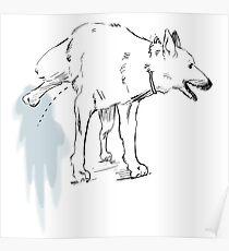 Peeing dog Poster
