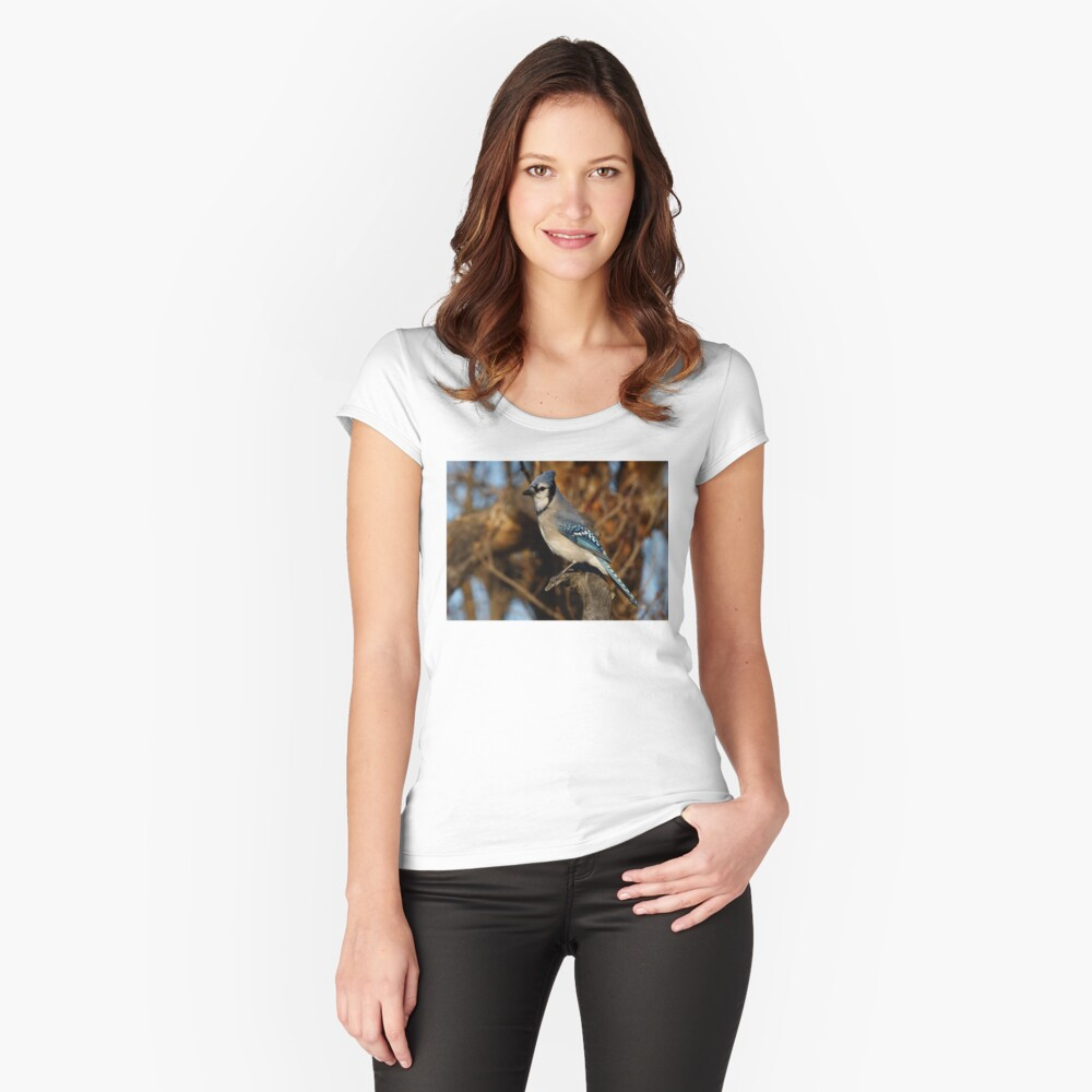 Blue Jay Women's Fitted Scoop T-Shirt Front