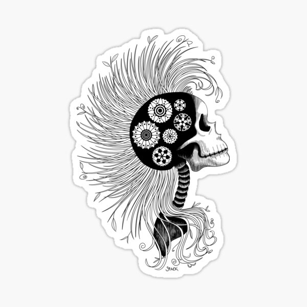 Eco Skull Sticker
