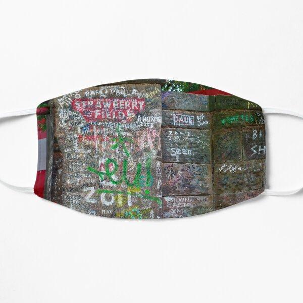 Strawberry Fields graffiti Flat Mask