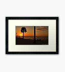 Relaxing at Sunset Framed Print