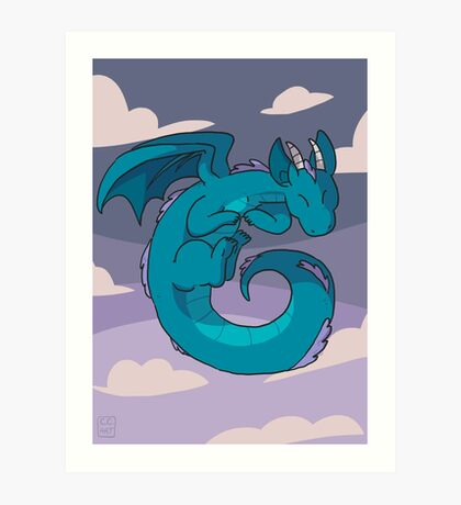 Spiral dragon Art Print