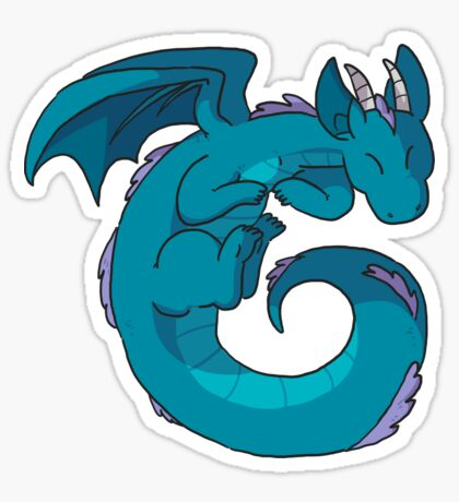 Spiral dragon Sticker