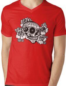 ciclismo calavera Mens V-Neck T-Shirt