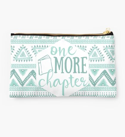 One More Chapter - Pale Blue Tribal Studio Pouch