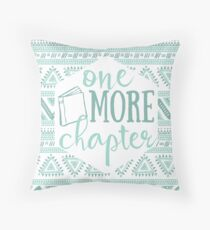 One More Chapter - Pale Blue Tribal Throw Pillow