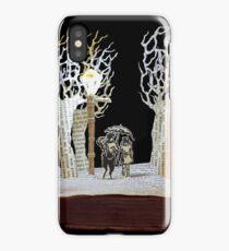 Tumnus and Lucy Narnia book sculpture iPhone Case