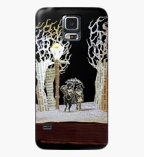 Tumnus and Lucy Narnia book sculpture Case/Skin for Samsung Galaxy