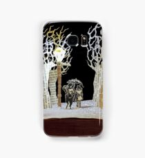 Tumnus and Lucy Narnia book sculpture Samsung Galaxy Case/Skin