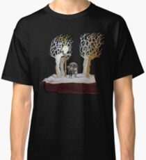 Tumnus and Lucy Narnia book sculpture Classic T-Shirt
