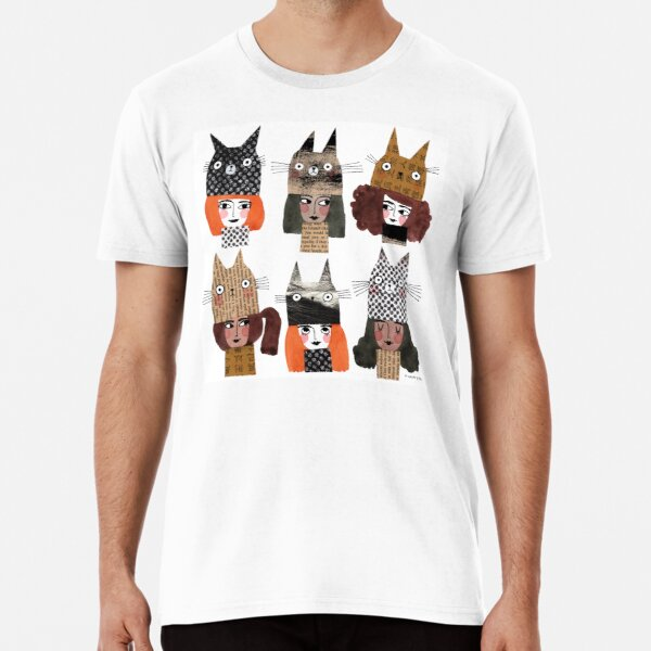 WINTER CAT HATS Premium T-Shirt