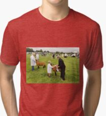 Agricultural Show sheep competition Tri-blend T-Shirt