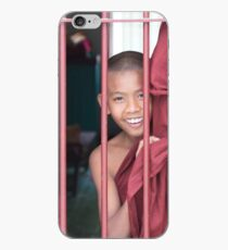 2 Young Monks in Myanmar iPhone Case