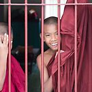 2 Young Monks in Myanmar by Clara Go (missatgerebut)